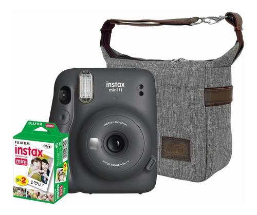 Kit Câmera Fujifilm Instax Mini 11 Grafite Bolsa 20 Fts
