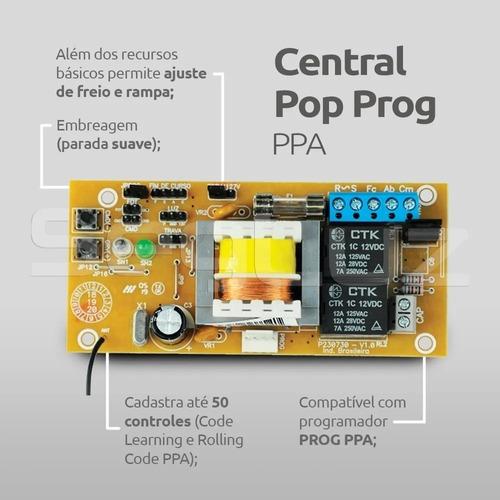 Central Eletrônica Para Portões Pop Prog Ppa