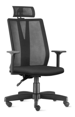 Cadeira Presidente Ergonômica Addit Apoio Cabeça - Frisokar