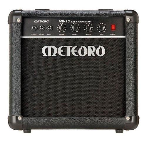Amplificador Meteoro Mb 15 Combo 15w Preto 110v/220v