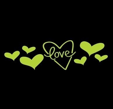 Adesivo Papel Parede Brilha No Escuro Love2 Fosforescente