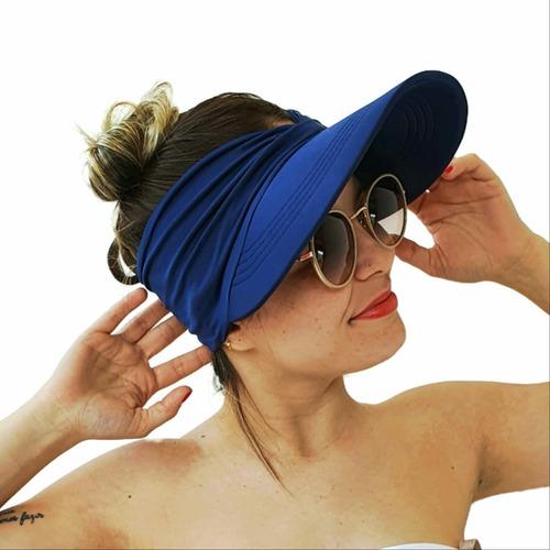Viseira Turbante Com Proteção Solar Uv50 Feminina Bandana