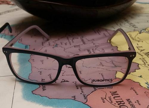 Montura Europtics Con Medida En Resina Con Ar Somos Optik