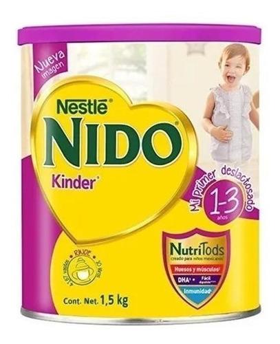 Fórmula Infantil En Polvo Nestlé Nido Kinder Deslactosado  En Lata 1.5kg