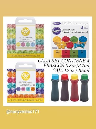 Wilton Colorantes Gel Primario Pastel Y Neon Alimentos