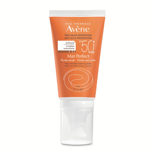 Protector Solar Avène Fluido Color Mat-perfect Tubo Dosificador Fps50 X 50 ml