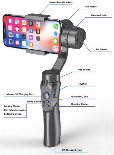 Estabilizador De Celular Para Filmar Portátil Com 3 Eixos