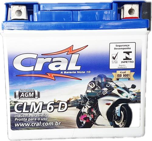 1339bateria De Moto Cral 6 Amperes Clm6d 12v*