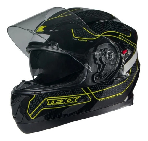 Capacete Motociclista Top Texx Panther G2 Viseira Noturna
