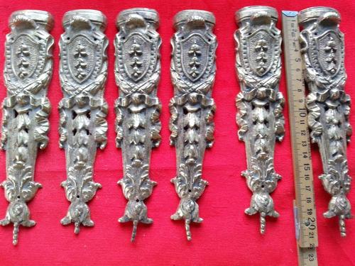 Herrajes Ornamento De Bronce Para Mueble Antiguo Quedan 2