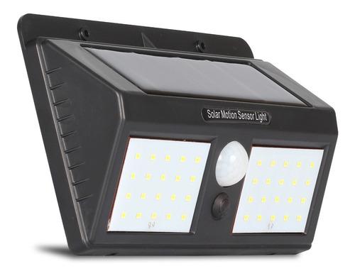 Lâmpada Luminária Parede Solar 40 Leds 12w Com Sensor Jardim