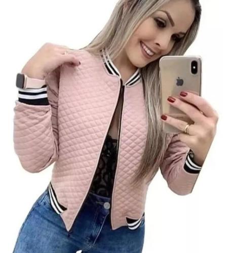 Jaqueta Bomber Casaco Blusa Frio Feminina Metalassê Listra