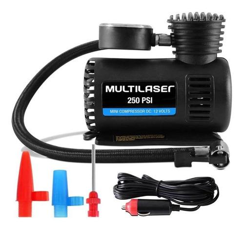 Mini Compressor De Ar Bomba Multilaser 250psi 12v Pneu Bola