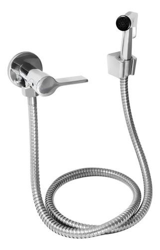 Ducha Higiênica Luxo 100% Metal Completa 1/4 De Volta C-65