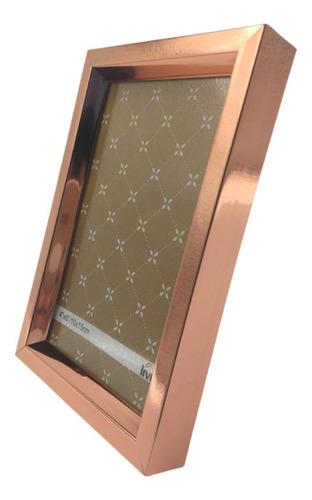 Porta Retrato 10x15cm Rose Gold Decoração Sala Quarto Luxo