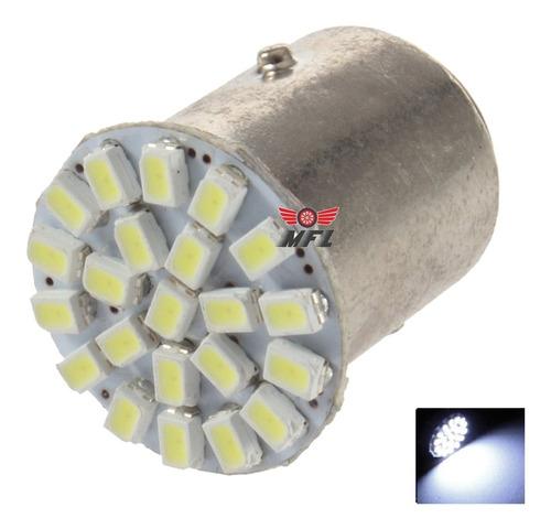 Kit 10 Lampada Bau15s 22 Led 1 Polo Branca 3020 Atacado