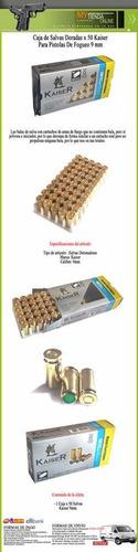 Caja De Municiones De Fogueo 9 Mm X 50 Unid