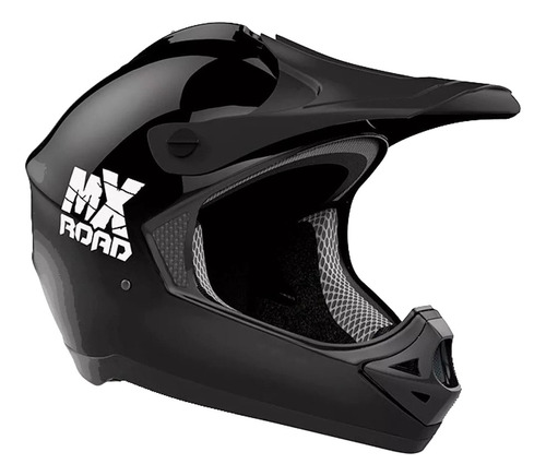 Casco Para Moto Cross Halcon Mx Road Negro Talle S