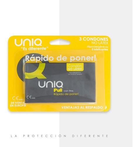 Condón Uniq Pull Sin Látex - Unidad a $3300