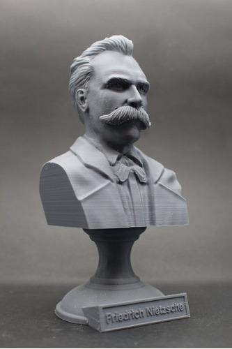 Escultura Estatua Busto Friedrich Nietzsche Alemão Filósofo