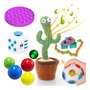 Pop It Push Fidget Set Brinquedos Sensoriais Cactus Brinqued