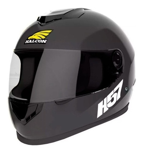 Casco Para Moto Integral Halcon H57 Negro Talle M