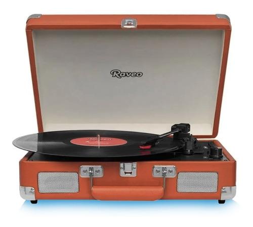 Vitrola Toca Discos Raveo Sonetto Marrom Com Usb E Bluetooth
