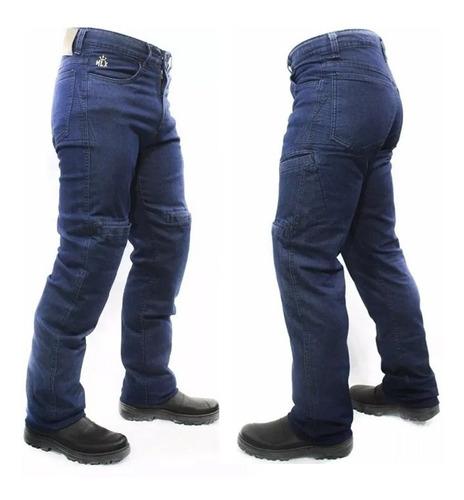 Calça Moto Jeans Com Proteção Hlx Masculina Street