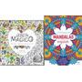 Kit 2 Livros Arteterapia Jardim Magico Mandala Inspirar