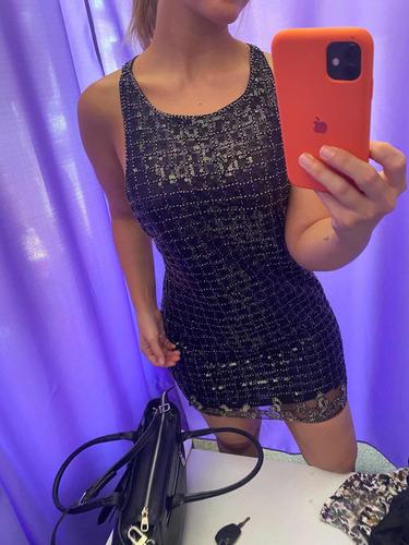 Vestido De Fiesta Lentejuelas Negro No Cher