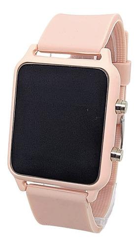 Relogio Feminino Led Quadrado Digital Watch
