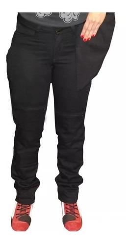 Calça Jeans Com Proteção Motociclista Hlx Slim Feminina