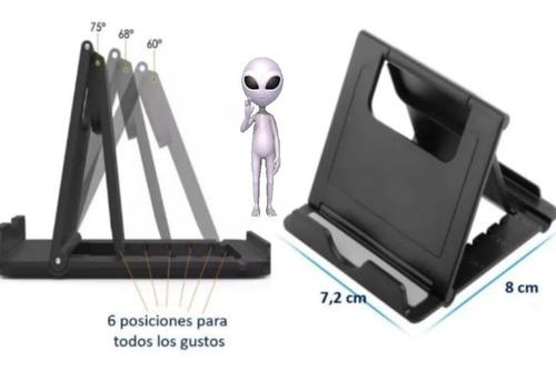Base Soporte Samsung iPhone Celular Tablet Escritorio Negro