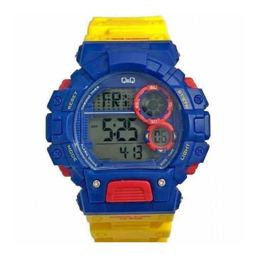 Reloj Q&q M144j801y Resina Amarillo Hombre