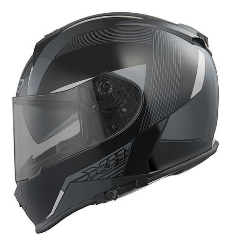 Capacete Para Moto Integral X11 Revo Cinza Tamanho 62