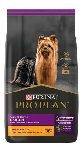 Alimento Pro Plan Optienrich Exigent Para Perro Adulto De Raza Pequeña Sabor Mix En Bolsa De 7.5kg