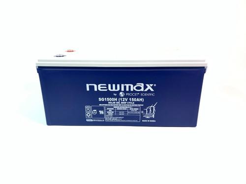Batería Solar 150ah/12v Ciclo Profundo Gel Newmax By Ps