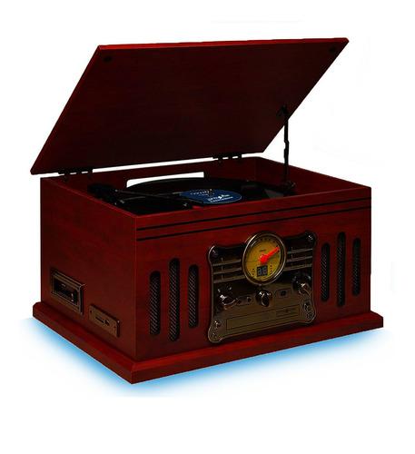 Toca Disco Vitrola Stadio Cd K7 Usb Vinil Bluetooth Raveo