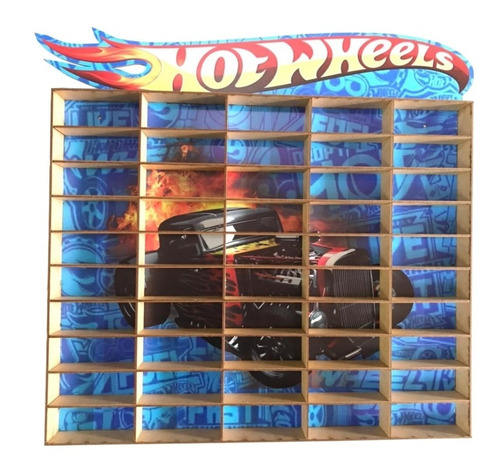 Suporte Porta Hot Wheels Estante Hot Hot Para 50 Carrinhos