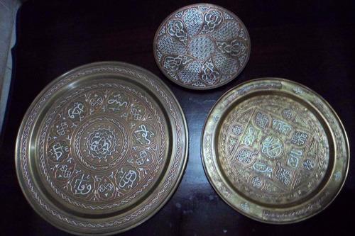 Pratos Decorativos Antigos Com Prata De Lei Encrustada Original
