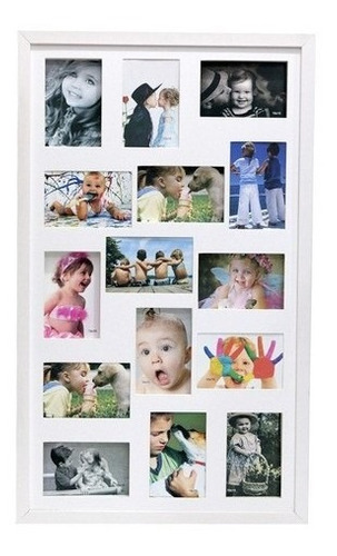 Painel 15 Fotos 10x15 Luxo Moldura Caixa Profundidade Vidro