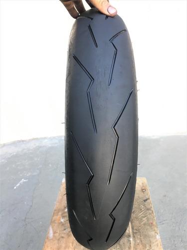 Pneu 120/70/17 Pirelli Diablo Super Corsa Usado Riscado Bom