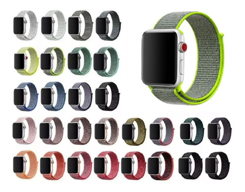 Pulseira Nylon Para Apple Watch 38mm 40mm 42mm 44mm Series