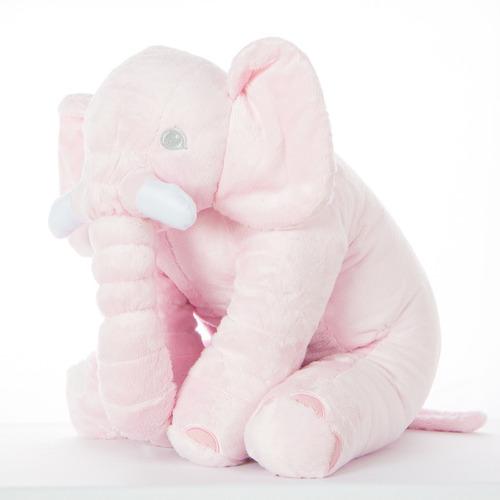 Almofada Elefante Pelúcia 65cm Travesseiro Bebê Antialérgico