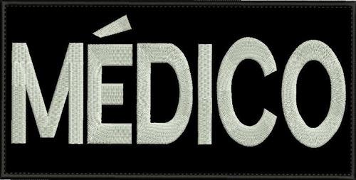 Patch Tarjeta Médico 20x10cm + Seu Nome 10x2cm Carrapicho