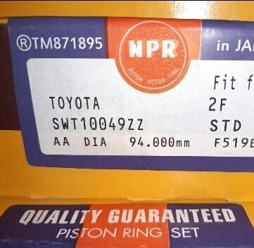 Anillos De Toyota 2f Std/010/020/030/040/060