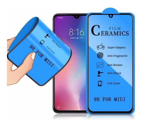 Vidrio Ceramica Flexible iPhone 11 Borde Negro No Se Quiebra