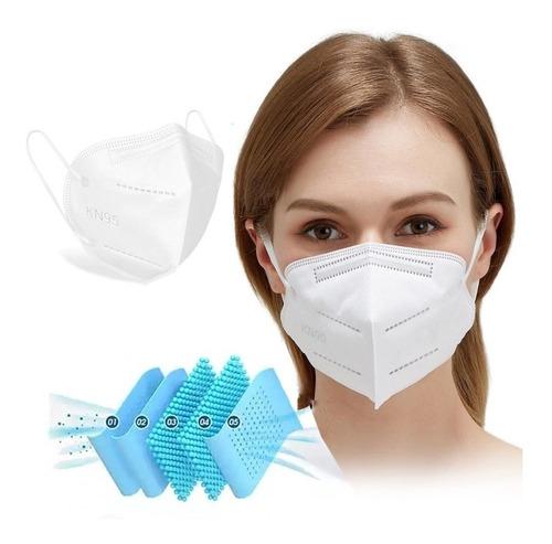 Kit 50 Máscaras Kn95 Proteção 5 Camada Respiratória Pff2 N95