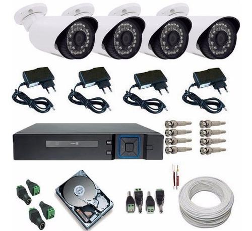 Kit 4 Câmeras De Segurança Ira Ahd 1.3 Mp - Dvr Multi Hd Original