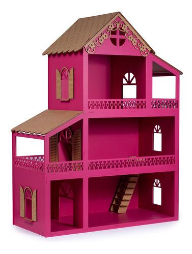 Casa Casinha De Boneca Mdf Montada Com Nome